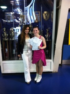 Briana O'Hanlon with Coach Emme Porter - Washington Elite Ice Skating
