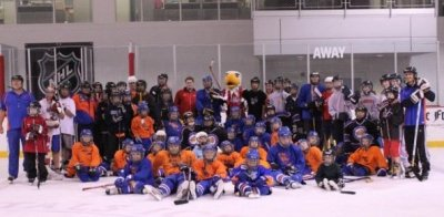 Washington Elite Coach Bruce Porter Jr Coaches the Cool Cats Special Hockey Camp